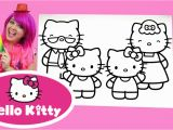 Coloring Pages Hello Kitty Youtube Coloring Hello Kitty Mimmy & Family Coloring Book Page Colored Pencil