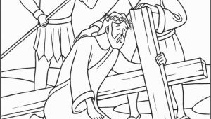 Coloring Pages Jesus Died On the Cross Stations Of the Cross Coloring Pages 7 Jesus Falls the Second Time