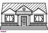 Coloring Pages Living Room How to Draw A House for Kids