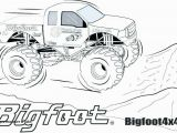 Coloring Pages Monster Trucks Grave Digger Coloring Pages Monster Trucks Truck Outline Colorprint