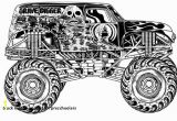 Coloring Pages Monster Trucks Grave Digger Truck Coloring Pages for Preschoolers Grave Digger Coloring Pages