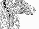 Coloring Pages Of A Horse Head Horse Head Zentangle Adult Coloring Page