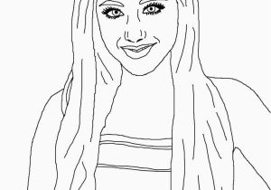 Coloring Pages Of Ariana Grande Ariana Grande Coloring Pages Preschool In Cure with Paint