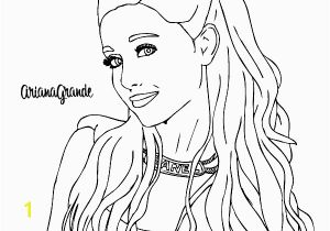 Coloring Pages Of Ariana Grande Colored Page Ariana Grande with Necklace Painted by User Not Registered