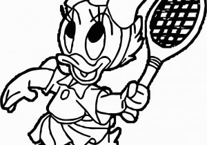 Coloring Pages Of Baby Daisy Cool Baby Daisy Duck Playing Badminton Coloring Page