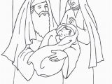 Coloring Pages Of Baby Jesus Printable Simeon Anna and Baby Jesus Luke 2