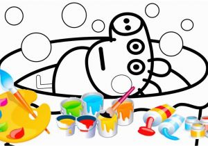 Coloring Pages Of Baby Pigs Baby Alexander In the Pool Peppa Pig Coloring Page Video for Kids