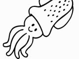 Coloring Pages Of Baby Sea Animals Baby Squid In Cartoon Sea Animals Coloring Page Download