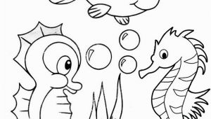 Coloring Pages Of Baby Sea Animals Cute Baby Seahorse Coloring Page