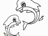 Coloring Pages Of Baby Sea Animals Sea Animals Two Baby Dolphin In Action Free Coloring