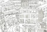 Coloring Pages Of Building City Coloring Pages High Resolution Free for Kids Throughout