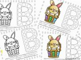 Coloring Pages Of Bunnies Printable B is for Bunny Dot Marker Coloring Pages Simple Fun for Kids