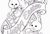 Coloring Pages Of Bunnies Printable Image Detail for Free Coloring Pages for Easter Cute Easter