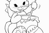 Coloring Pages Of Bunnies Printable Look This Cute Bunny is Coloring Easter Eggs they are