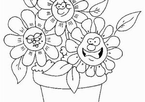 Coloring Pages Of Cartoon Flowers Flower Coloring Pages