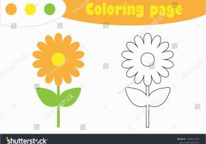Coloring Pages Of Cartoon Flowers Flower In Cartoon Style Coloring Page Spring Education