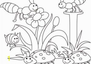 Coloring Pages Of Cartoon Flowers Spring Bugs Coloring Pages