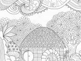 Coloring Pages Of Cloud Zendoodle Design Of Small Hut In the forest with Abstract Clouds for