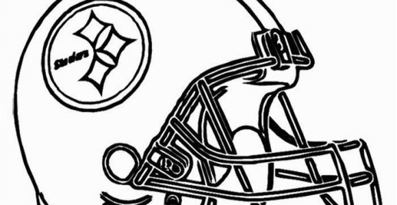 Coloring Pages Of College Football Teams Football Helmet Steelers Pittsburgh Coloring Page Nfl