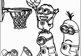 Coloring Pages Of College Football Teams Minion Playing Basketball Coloring Pages