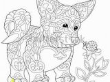 Coloring Pages Of Corgis Coloring Page Of Cardigan Welsh Corgi Puppy Dog Symbol Of 2018