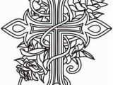 Coloring Pages Of Crosses and Roses Cross and Roses Coloring Pages