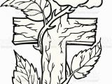 Coloring Pages Of Crosses and Roses Cross with Rose Stock Illustration Download Image now