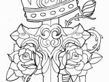 Coloring Pages Of Crosses and Roses Crown Cross Rose and Thorn by Cko