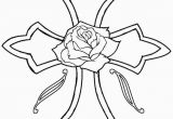 Coloring Pages Of Crosses and Roses Printable Rose Coloring Pages for Kids