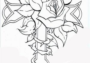 Coloring Pages Of Crosses and Roses Rose and Cross Pages Dragoart Coloring Pages