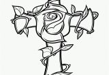 Coloring Pages Of Crosses and Roses Rose and the Cross Coloring Page Free Printable Coloring