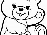Coloring Pages Of Cute Teddy Bears Bear Cute Drawing