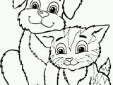 Coloring Pages Of Dogs and Cats Printable Free Printable Cat Coloring Pages for Kids with Images