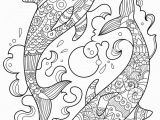 Coloring Pages Of Dolphins Printable Dolphin Zentangle Coloring Page Mit Bildern