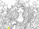 Coloring Pages Of Fairies and Mermaids 187 Best Coloring Pages for Grown Ups Images On Pinterest In 2018