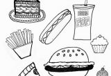 Coloring Pages Of Fast Food Junk Food 8 5 by11 Coloring Page Printables Pinterest