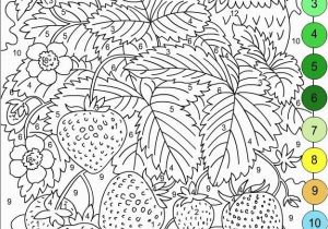 Coloring Pages Of Fields Nicole S Free Coloring Pages Color by Numbers Strawberries and