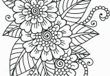 Coloring Pages Of Flowers for Teenagers Difficult Hard Flower for Teens Coloring Pages Printable