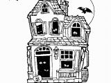 Coloring Pages Of Haunted Houses Halloween Haunted House Free Coloring Pages for Kids Printable