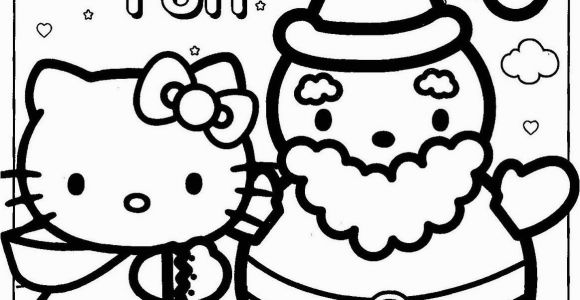 Coloring Pages Of Hello Kitty Christmas Happy Holidays Hello Kitty Coloring Page