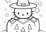 Coloring Pages Of Hello Kitty Halloween Free Hello Kitty Halloween Coloring Pages with Pumpkin