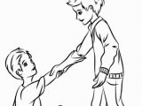 Coloring Pages Of Helping Others Helping Each Other Coloring Page