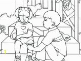 Coloring Pages Of Helping Others Serving Others Coloring Pages Helping Sheets About Each Other Pa