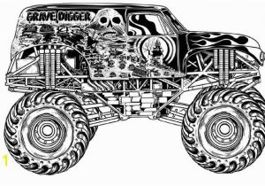 Coloring Pages Of Huge Monster Trucks Grave Digger Coloring Pages Car Art Pinterest