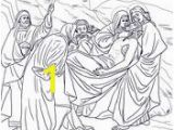 Coloring Pages Of Jerusalem Fourteenth Station Jesus is Laid In the tomb Coloring Page