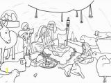 Coloring Pages Of Jesus Nativity Jesus Born In Bethlehem In Nativity Coloring Page Jesus