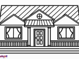 Coloring Pages Of Living Room How to Draw A House for Kids