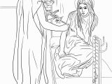 Coloring Pages Of Mary and the Angel Gabriel Angel and Mary Coloring Page Coloring Home