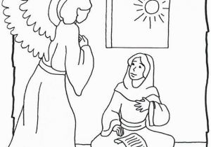 Coloring Pages Of Mary and the Angel Gabriel Angel Gabriel and Mary
