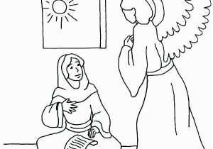 Coloring Pages Of Mary and the Angel Gabriel Angel Gabriel Coloring Page at Getcolorings